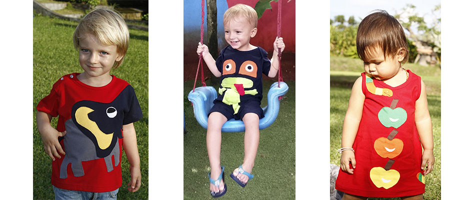 Moemie children's wear: Hand-made, 100% Cotton.