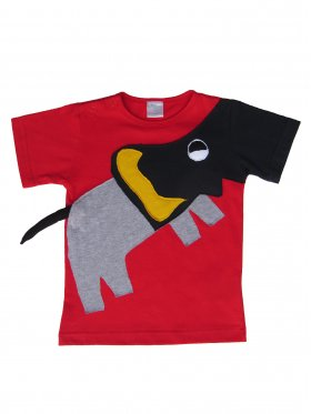 A boys' t-shirt with a singing elephant.